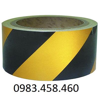 Cuộn decal phản quang vàng đen