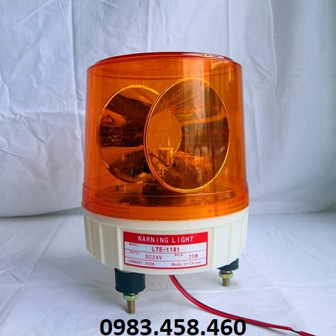 Đèn xoay cảnh báo LTE 1181 12V màu vàng
