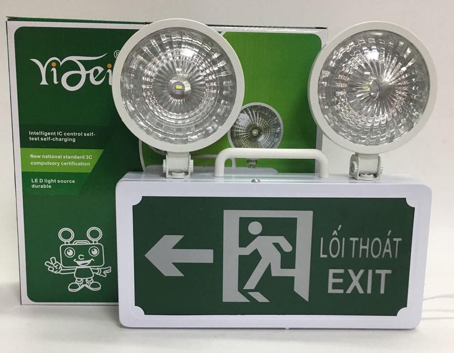 Đèn sự cố kết hợp Exit hướng trái