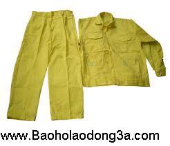 Đồng phục công nhân kaki vàng chanh 1