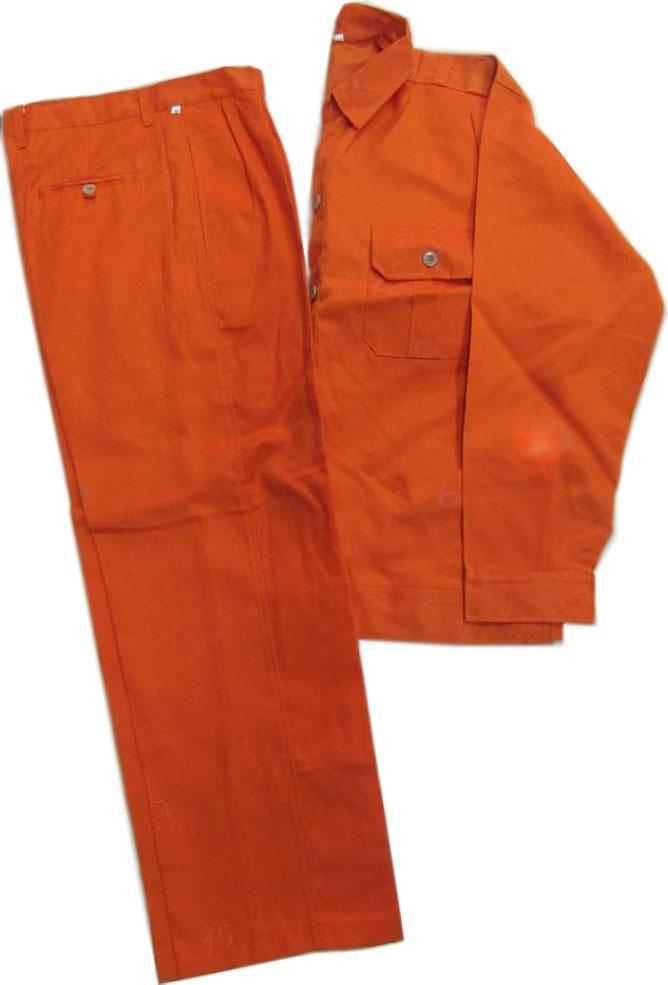 Quần áo công nhân kaki cam L1